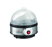 Яйцеварка Elekom ЕК-109 S/S, 350W, Капацитет: 7 яйца, Звукова аларма, 3 нива на варене, Свалящ се ка...