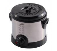 Фритюрник Elekom ЕК-1820, 1200 W, Удобен за работа капак, Терморегулатор: 130-190оС, Светлинен индикатор