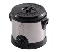Фритюрник Elekom ЕК-1820, 1200 W, Удобен за работа капак, Терморегулатор: 130-190оС, Светлинен индик...