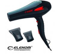 """Сешоар Elekom ЕК-8210 N, С дифузер, 2300 W, Бутон """"Студен въздух"""", Генератор на йони, Концентратори ..."""