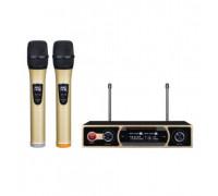 Безжичен микрофон Elekom ЕК-9902, POP платка за елиминиране на шума, Вградена платка с кристален ста...