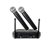 Безжичен микрофон Elekom ЕК-9904, POP платка за елиминиране на шума, Вградена платка с кристален ста...
