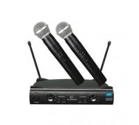 Безжичен микрофон Elekom ЕК-9958, POP платка за елиминиране на шума, Вградена платка с кристален ста...