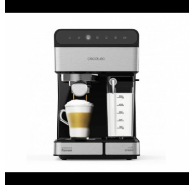 Кафемашина Cecotec 1558 Instant 20 Touch Nera Semi, Мощност 1350 W и 20 бара налягане за перфектен каймак