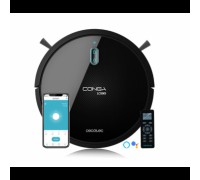 Прахосмукачка робот Conga 1099 Connected, 3 нива на мощност, 6 програми, Приложение за Смарт телефон