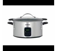 Уред за бавно готвене Heinner HSCK-T6IX, Капацитет 6 л, 3 степени на готвене, Свалящ се тефлонов съд