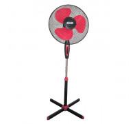 """Вентилатор на стойка 16""""Muhler FM-5071 черно+червено, Височина 1.30 метра, 60 сантиметра стойка..."""