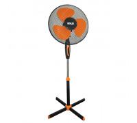 """Вентилатор на стойка 16""""Muhler FM-5070 черно+оранж, Височина 1.30 метра, 60 сантиметра стойка, ..."""