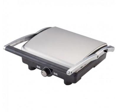 Тостер преса за сандвичи и скара 2в1 ZEPHYR ZP 1442 PC, 2000W, Незапващи плочи, Отваряне на 180°, Черен/Инокс